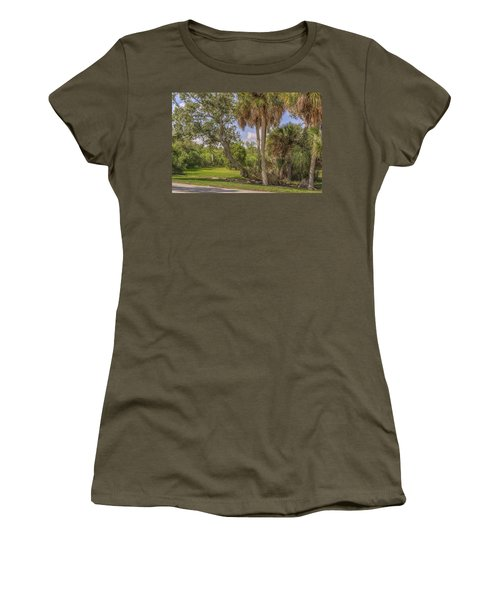 Women's T-Shirt (Junior Cut) featuring the photograph Oak Trees by Jane Luxton