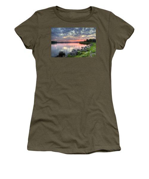 Ohio Lake Sunset Women's T-Shirt