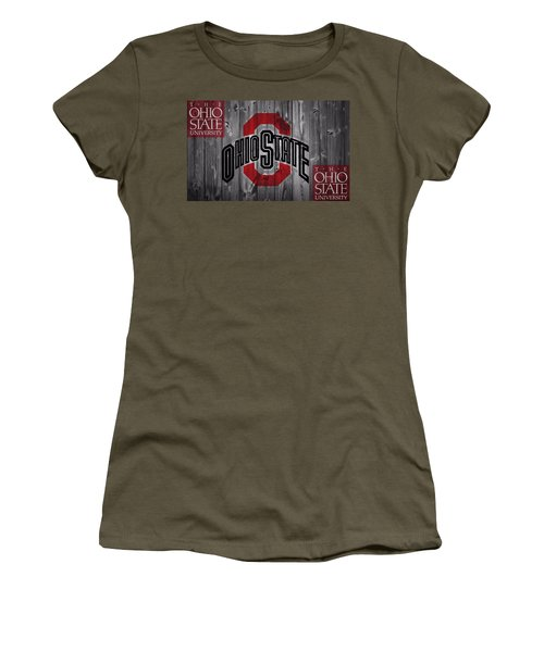 Women's T-Shirt featuring the photograph Ohio State Buckeyes by Dan Sproul