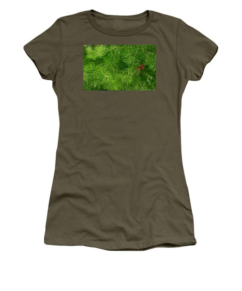 Women's T-Shirt (Junior Cut) featuring the photograph Peek A Boo by Elizabeth Winter