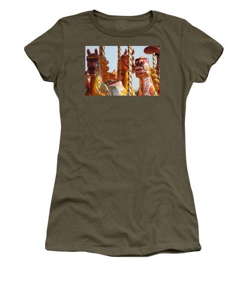 Pretty Carousel Horses Women's T-Shirt (Athletic Fit)