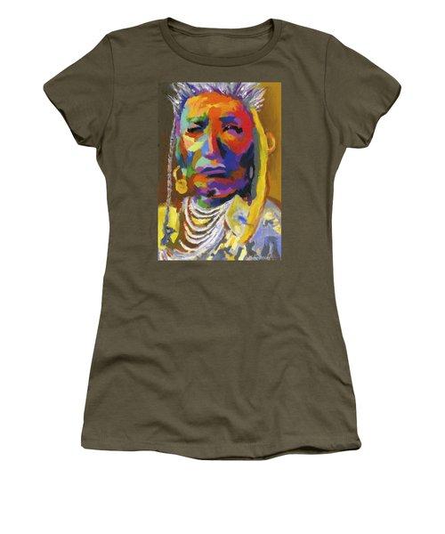 Proud Native American II Women's T-Shirt (Junior Cut) by Stephen Anderson