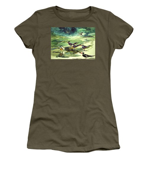 Royal Terns And Black Skimmers Women's T-Shirt