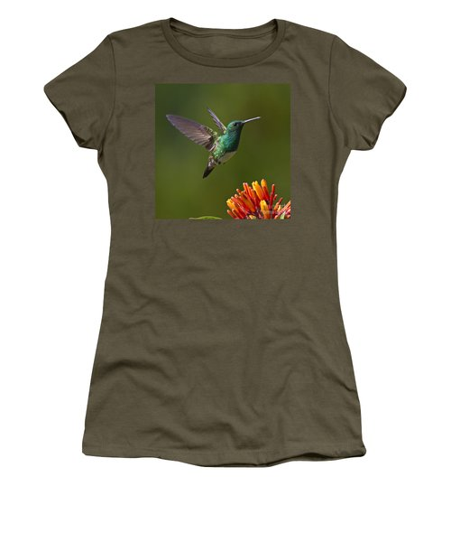 Snowy-bellied Hummingbird Women's T-Shirt (Athletic Fit)
