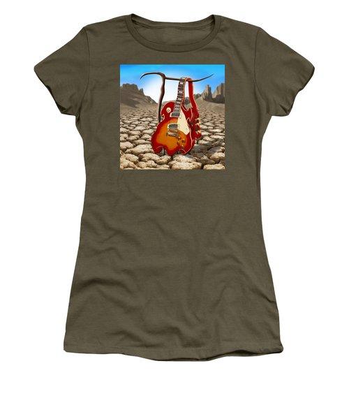 Soft Guitar II Women's T-Shirt (Junior Cut) by Mike McGlothlen