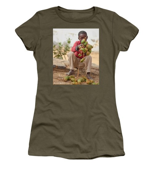 Women's T-Shirt featuring the photograph Somewhere Else On Goree Island  by Stwayne Keubrick