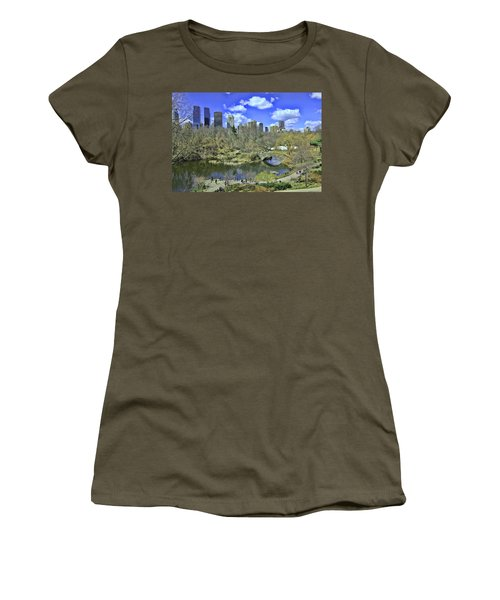 Springtime In Central Park Women's T-Shirt (Junior Cut) by Allen Beatty