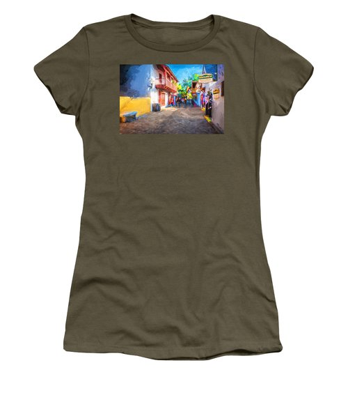 St George Street St Augustine Florida Painted Women's T-Shirt