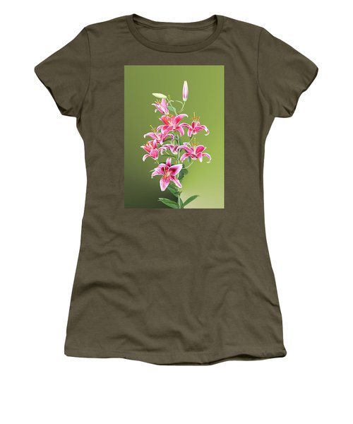 Stargazer Lilies Women's T-Shirt (Junior Cut) by Kristin Elmquist