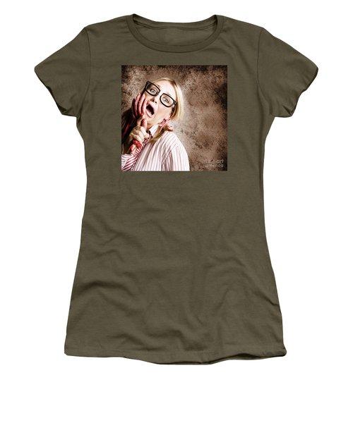 Stressed Businesswoman Under Attack At Work Women's T-Shirt
