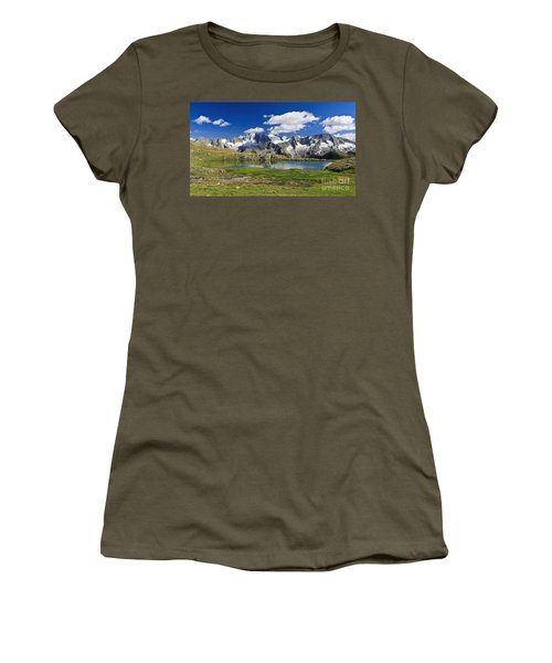 Women's T-Shirt (Junior Cut) featuring the photograph Strino Lake - Italy by Antonio Scarpi