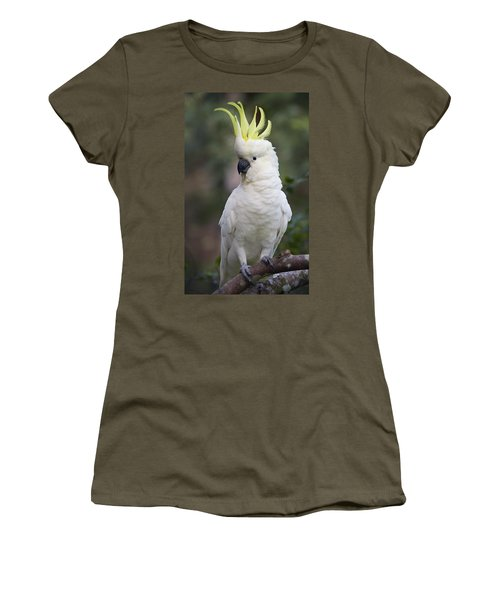 Sulphur-crested Cockatoo Displaying Women's T-Shirt