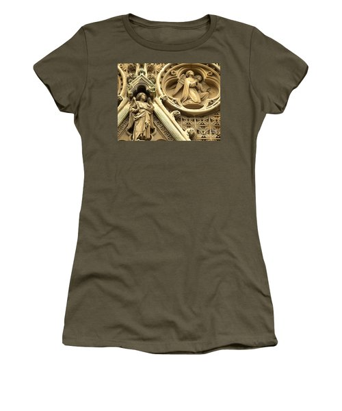 Women's T-Shirt (Junior Cut) featuring the photograph Truro Cathedral by Rachel Mirror
