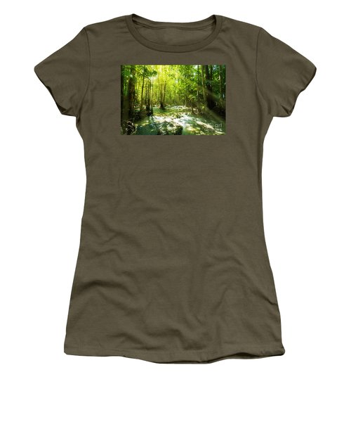 Waterfall In Rainforest Women's T-Shirt (Athletic Fit)