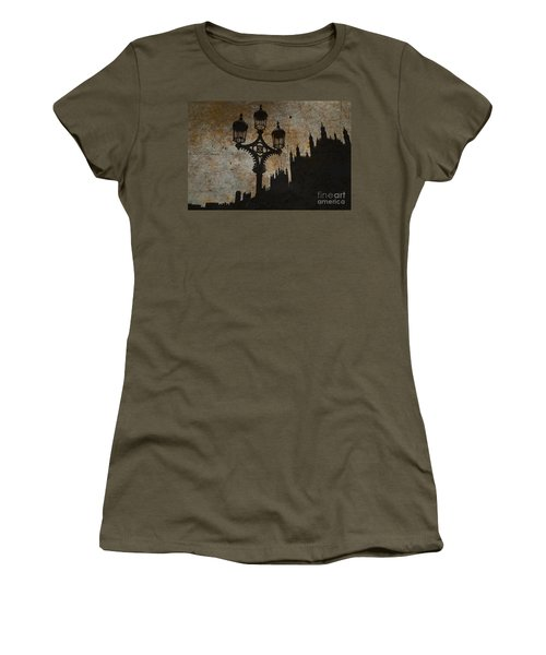 Women's T-Shirt (Junior Cut) featuring the digital art Westminster Silhouette by Matt Malloy