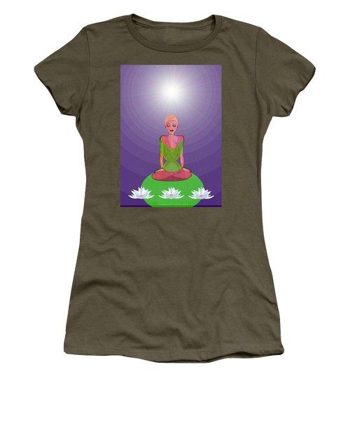 1026 - Lotus Women's T-Shirt (Junior Cut) by Irmgard Schoendorf Welch