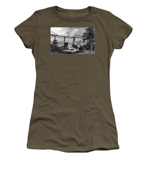 1800s 1870s 1872 View Of Louisville Ky Women's T-Shirt