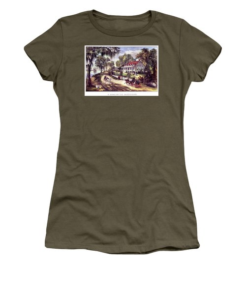 1870s 1800s A Home On The Mississippi - Women's T-Shirt