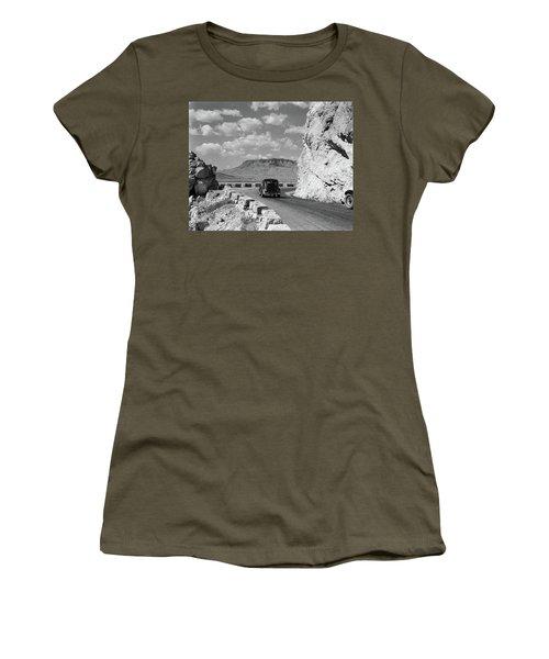 1930s 1940s Car Driving On Mountain Women's T-Shirt