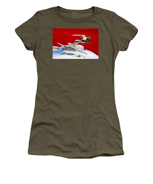 Women's T-Shirt featuring the photograph 1931 Chrysler Coupe Hood Ornament by Jill Reger