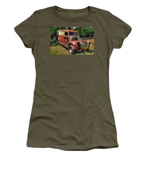 Women's T-Shirt (Junior Cut) featuring the photograph 1941 Chevy Van by Paul Mashburn