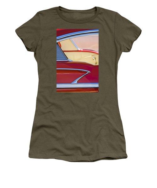 Women's T-Shirt featuring the photograph 1958 Chevrolet Belair Abstract by Jill Reger
