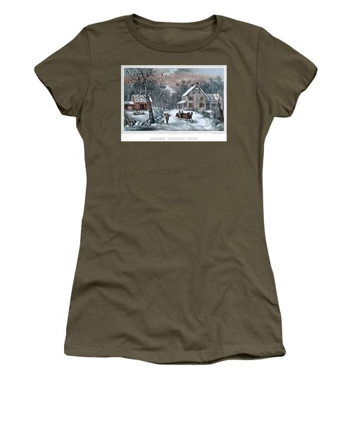 1980s American Homestead Winter - Women's T-Shirt