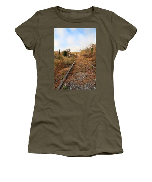 Abandoned Tracks Women's T-Shirt (Junior Cut) by Melinda Fawver