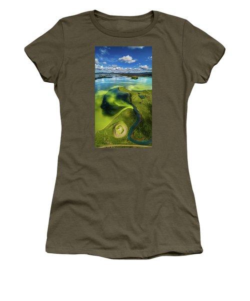 Aerial View Of Skutustadagigar Women's T-Shirt