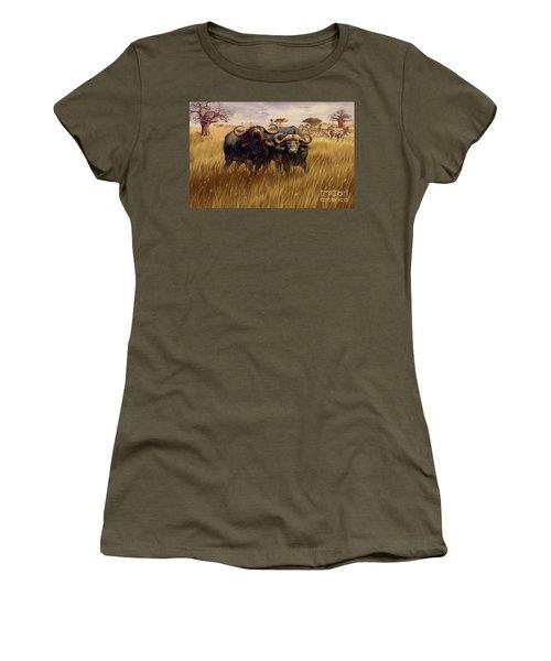 Women's T-Shirt (Junior Cut) featuring the digital art 2 Bad Duga Boys  by Rob Corsetti