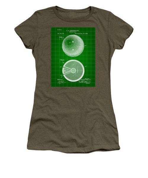 Bowling Ball Patent 1894 - Green Women's T-Shirt