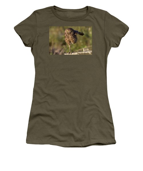 Burrowing Owl Photograph Women's T-Shirt (Athletic Fit)