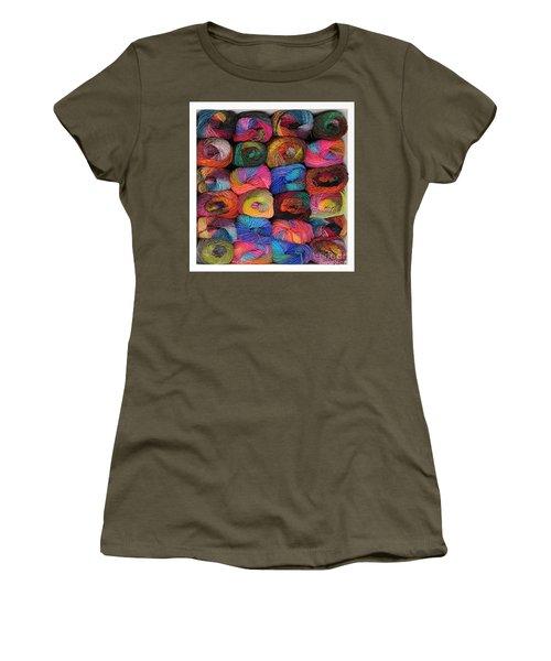 Colorful Knitting Yarn Women's T-Shirt