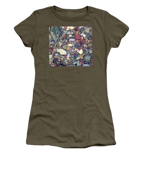 Colorful Lake Rocks Women's T-Shirt