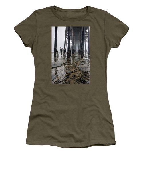 Fog At The Pier Women's T-Shirt