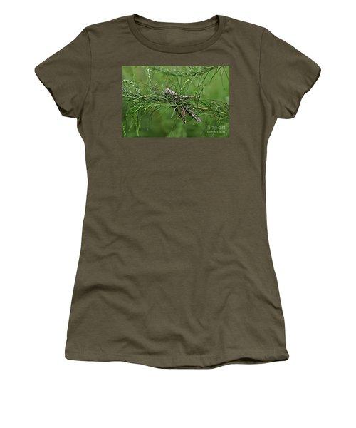 Women's T-Shirt (Junior Cut) featuring the photograph Grasshopper by Olga Hamilton