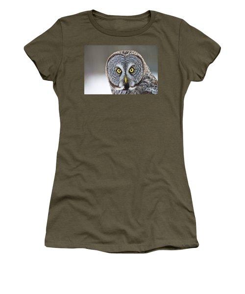 Great Gray Owl Portrait Women's T-Shirt