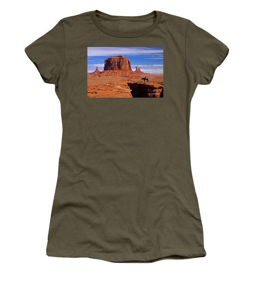 Women's T-Shirt featuring the photograph John Ford Point Monument Valley by Brian Jannsen