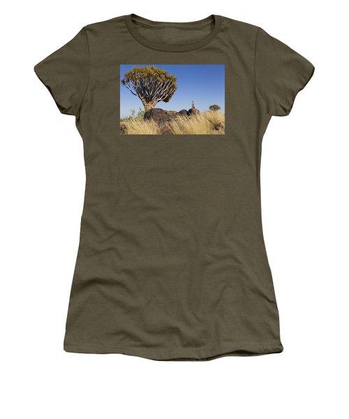 Meerkat In Quiver Tree Grassland Women's T-Shirt (Athletic Fit)