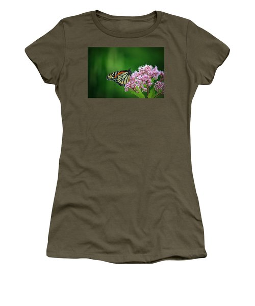Monarch In Light  Women's T-Shirt (Junior Cut) by Neal Eslinger