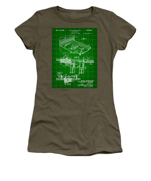 Pinball Machine Patent 1939 - Green Women's T-Shirt (Athletic Fit)