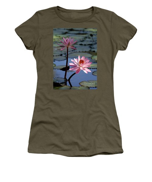 Pink Water Lily In The Spotlight Women's T-Shirt