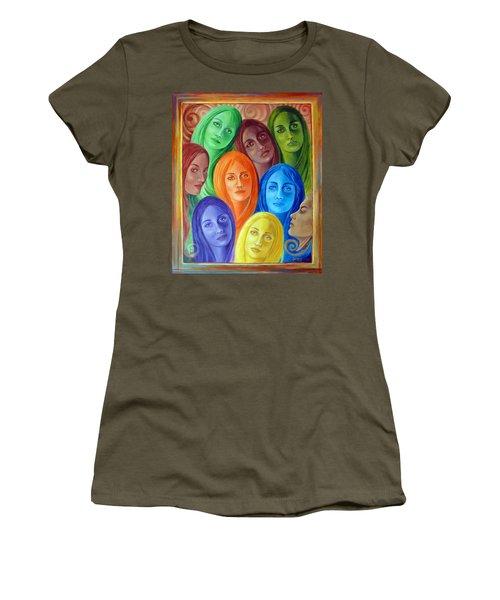 Serene Sisters Women's T-Shirt (Junior Cut) by Sylvia Kula