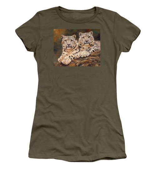 Snow Leopards Women's T-Shirt (Athletic Fit)