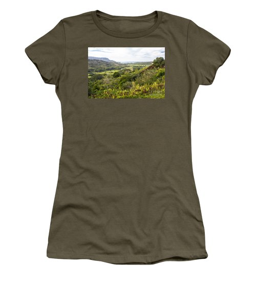 Women's T-Shirt (Junior Cut) featuring the photograph Taro Fields by Suzanne Luft