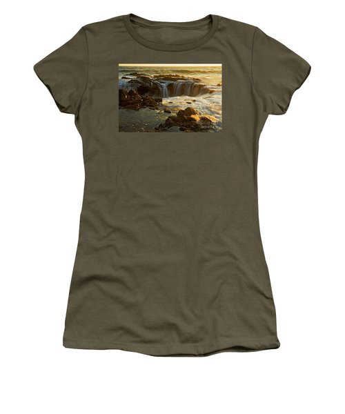 Thor's Well Women's T-Shirt (Junior Cut) by Nick  Boren