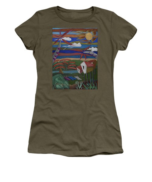 Women's T-Shirt featuring the painting Tiempos Y Remembranzas by Oscar Ortiz