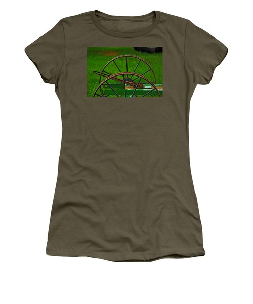 Women's T-Shirt (Junior Cut) featuring the photograph Wheels Of Time by Rowana Ray