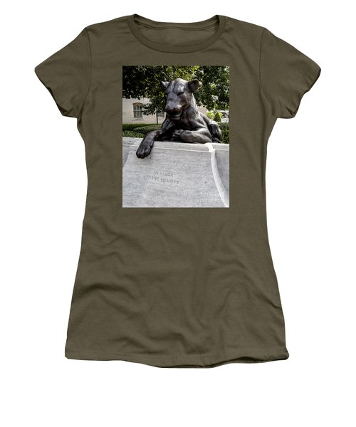 At The National Law Enforcement Officers Memorial In Washington Dc Women's T-Shirt