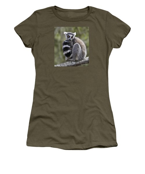 Ring-tailed Lemur Women's T-Shirt (Athletic Fit)